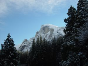 Snowy Shaded Half Dome